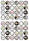 48 Bridal/Wedding Edible PREMIUM THICKNESS SWEETENED VANILLA,Wafer Rice Paper Mini Cupcake Toppers, Cake Pops, Cookies