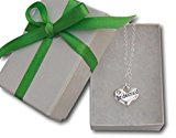 Bridesmaid heart necklace in gift box