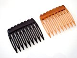 Small plastic Hair Comb hair slide millinery / bridesmaid / Bridal child's P3 (Black)