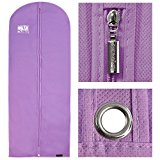 Hangerworld Synthetic 60-Inch Breathable Garment Clothes Dress Cover Bag Protector, Lilac