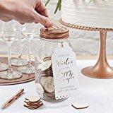 Ginger Ray Wishing Jar & Wooden Hearts Alternative Wedding Guest Book - Beautiful Botanics