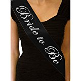 Yantu Bride bridesmaid Night Bachelor Party Do Accessories Mens Groom To Be hen party Black Sash Ties (1 bride to be)