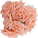 10pcs Classic White Purple Pink Lvory Beige Rose Flowers for Wedding Bridesmaid Bridal Bouquets Artificial (Champagne)