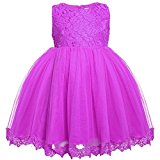 Arshiner Toddler Baby Girls' Tulle Flower Princess Wedding Dress
