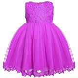 Arshiner Toddler Baby Girls' Tulle Flower Princess Wedding Dress
