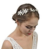 Remedios Crystal Wedding Headbands Flower Bridesmaid Headpieces Tiara