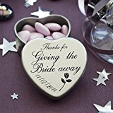 Luxury Personalised Wedding Gifts for Guests, Makes the perfect Keepsake and Momento for your Special Day with mints or chocolates. (Giving The Bride Away)