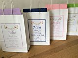 PERSONALISED WEDDING FAVOUR PARTY GIFT BAG with tissue paper