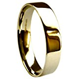 QUALITY UK 9ct Yellow Gold 5mm Heavy Flat Court / Comfort Fit Wedding Ring 6.0g Size X