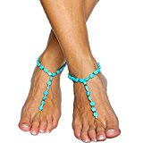 Tonsee Fashion Adjustable Anklet Boho Beads Anklets Bracelet Foot Chain Beach Jewelry
