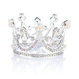 Topwedding Pearl and Rhinestone Wedding Crown Brithday Tiara Headband