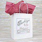 Personalised Wedding Favour Party Gift Bag | Coloured Tissue Paper (Burgundy)