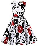 Girls Floral Wedding Party Dance Dresses 2#(11-12yrs)