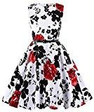 Girls Floral Wedding Party Dance Dresses 2#(11-12yrs)