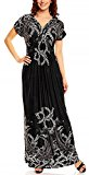Mia Suri Summer Beach Casual Holiday Maxi Day Dress Black/White Size 14