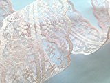 Sparkles Gems Vintage Style Lace Ribbon Trimming Bridal Wedding Scalloped Edge 47mm (Peach)