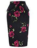 Cotton Hips-Wrapped Vintage Dress Rose Floral Size S CL8928-10