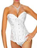 Yummy Bee Corset Ivory White Bridal Bustier Plus Size Push Up Long (12)