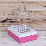 The Bright Side His & Hers Wedding Bubbles - Two Boxed Champagne Flutes(New Range)