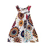 BZLine ® Kids Newborn Toddler Baby Flower Girls Princess Dress Wedding Party Dress (8 Years, White)