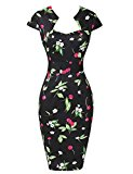 Yafex Women's Vintage Dress Large Floral A