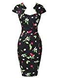 Yafex Women's Vintage Dress Large Floral A