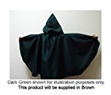 BROWN CRUSHED VELVET CHILDS SHORT CLOAK FANCY DRESS WEDDING SCHOOL PLAY DRESSING UP FUN