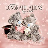 Me To You Tatty Teddy 3D Holographic Card - Wedding Congratulations - Bride and Groom Bear