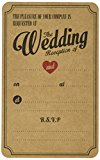 Ginger Ray Evening Wedding Reception Brown Kraft Wedding Invitations x 10 - Vintage Affair