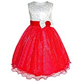 JZ51 Girls Dress Glitter Sequin Wedding Bridesmaid Pageant Age 4 Years