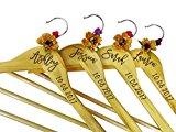 Personalized Wood Hanger Custom Engraved Wedding Hangers Wedding Bridesmaid Gift