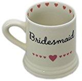 Boxed Ceramic Heart Wedding Favour Gift Mug ~ Bridesmaid