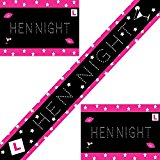 One 8ft Hot Pink, Black and Silver Stars Hen Party Banner - Ideal for Your Hen Night and to Make the Party Even More Fun! Girls Night Out, Bride to Be, Maid Of Honor, Bridesmaids, Wedding Celebration, Special Occasion. (Banner)