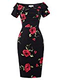 Vintage Dress For Women Party Cocktail Prom Dresses Black Size 12 BP0117-1
