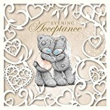 Me to You Wedding Evening Reception Acceptance Card - Tatty Teddy Bear