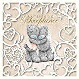 Me to You Wedding Evening Reception Acceptance Card - Tatty Teddy Bear