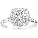Ladies Ring -925 Sterling Silver Dazzling Round-Cut Simulated Diamond A Stunning Wedding Engagement Bridal Ring V