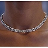 Bridal Cubic Zirconia Tennis Collar Fashion Necklace