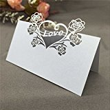 Anself 50 PCS Multifunctional Classy Delicate Name Card Place Card Romantic Seat Card Decor Favor