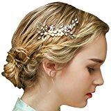 Vintage Gold Bridal Hair Comb Crystal Rhinestone Pearls Wedding Hair Accessories