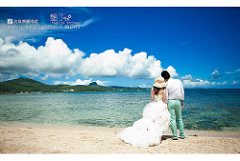 beach wedding tropical photo